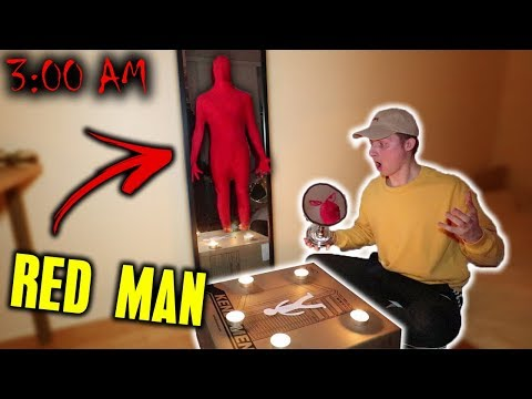 *HE IS HERE* DO NOT SUMMON THE RED MAN AT 3 AM!! (IT WORKED!)