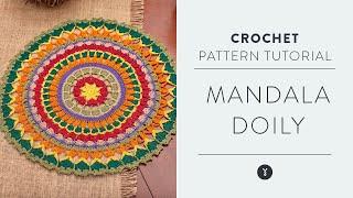 Tapete Mandala Doily [Nivel Intermedio de crochet]