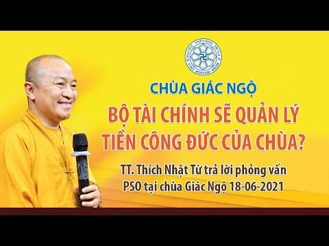 TT. Nhật Từ trả lời các câu hỏi về việc Bộ Tài chính sẽ quản lý tiền công đức của chùa?