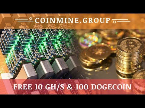 CoinMine.group отзывы 2019, обзор, Mining Cryptocurrency, Free 10 Ghs & 100 Dogecoin