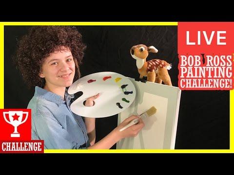 BOB ROSS PAINTING CHALLENGE LIVE! | Bob Ross - Mystic Mountain (S 20 E 1)  | KITTIESMAMA LIVESTREAM