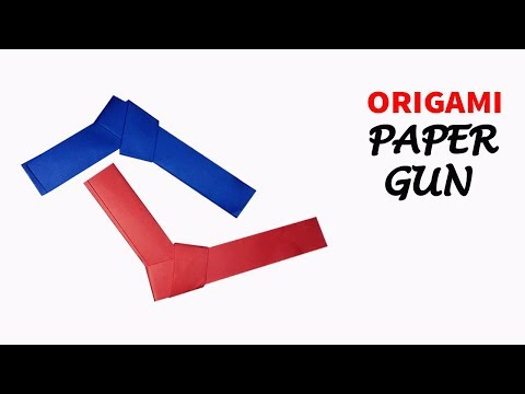 How To Make a Mini Paper gun - Origami Paper Pocket pistol
