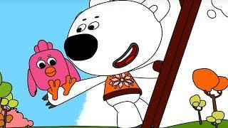 Раскраска Ми-ми-мишки  Нежданные гости - серия 37 - Учим цвета с малышами