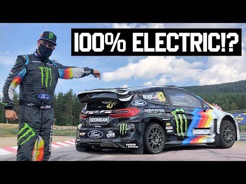 Ken Block Tests an Electric Rally Car