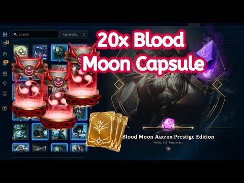 League of Legends crafting AATROX Blood Moon Prestige skin