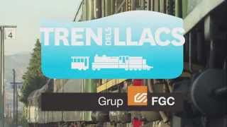preview picture of video 'Tren dels Llacs - tren turístic'