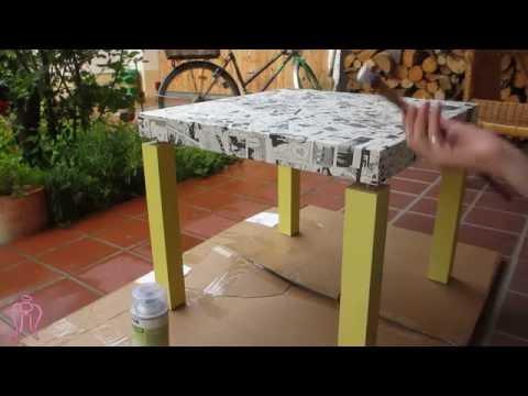 Tisch im Mangadesign basteln