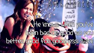 Miley Cyrus - Santa Claus is coming to town Lyrics On Screen HD