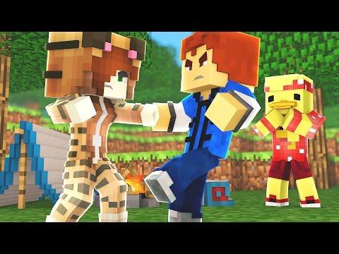 Minecraft Recess - RYAN and TINA FIGHT!?