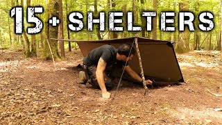 15 Shelters With A Tarp | Camping & Bushcraft