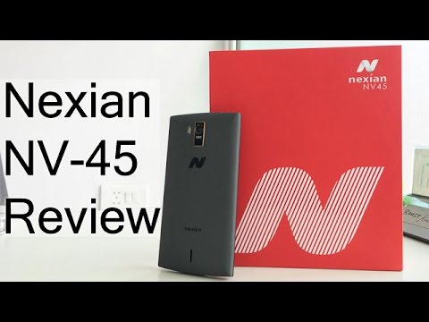 nexian nv 45 unboxing and hands on review