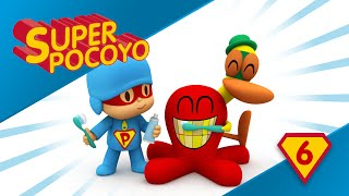 Super Pocoyo reminds us to brush our teeth every day