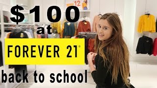 I spent $100 BACK TO SCHOOL Shopping at Forever 21!