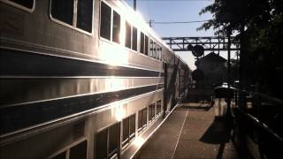 preview picture of video 'LIRR Morning Rush at Mineola'