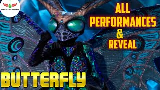 Masked Singer Butterfly All Performances & Reveal | Season 2