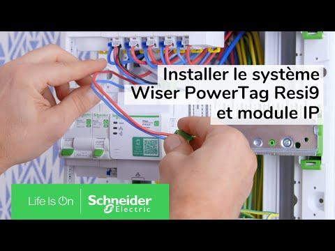 Wiser Energy PowerTag - capteur de mesure sans fil - monophasé