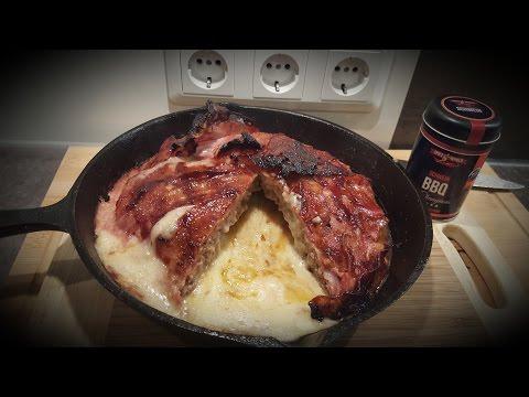 Käse Bacon Pie vom Kugelgrill