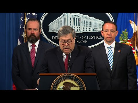 Attorney General William Barr says special counsel Robert Mueller's report recounts 10 episodes involving President Donald Trump that were investigated as potential acts of criminal obstruction of justice. (April 18)