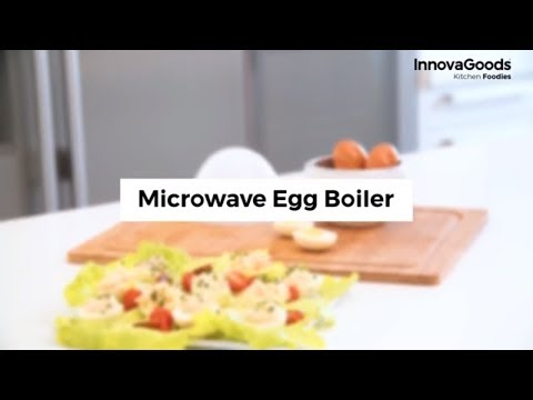 eierkocher f r die mikrowelle f r 4 eier maker kocher mit rezepten microwave egg ebay. Black Bedroom Furniture Sets. Home Design Ideas