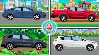 Пазлы 4 машинки - Легковые машины - Мультфильм для детей