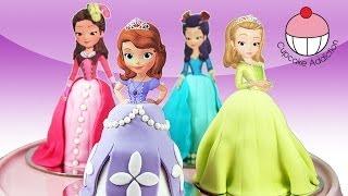 PRINCESS CUPCAKES - Make Sofia the First Mini Disney Cakes with Cupcake Addiction