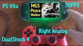 MGS: Peace Walker - Unlock 30FPS + DualShock 4 + Right Analog Camera on PlayStation Vita