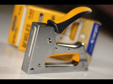 How to Operate a Staple Gun (Basics) using Kangaro hand tacker