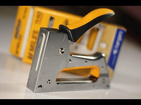 How to Operate a Staple Gun (Basics) using Kangaro hand tacker
