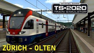 Train Simulator 2020   Let`s Test   Zürich - Olten   RABe 511 Kiss Dosto  