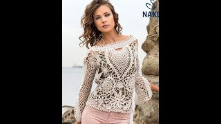 Вязание Крючком Ажурных Туник - модели 2017 / Knitting the Hook Ajour Tunic / Crochet Tunick
