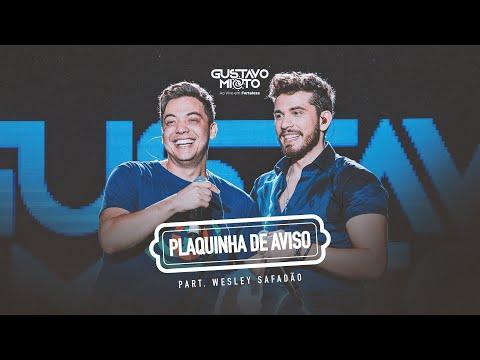 Gustavo Mioto Plaquinha De Aviso Part Wesley Safadão Dvd Ao Vivo Em Fortaleza