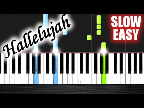 Hallelujah - SLOW EASY Piano Tutorial by PlutaX