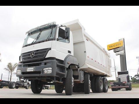 MB 4144 8X4 – 2009 – CAÇAMBA PASTRE MEIA CANA 25M³ – 6 CC - Trucado Caminhões