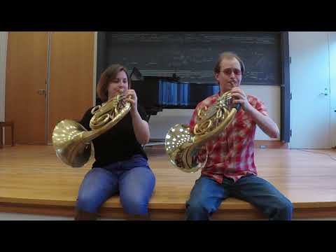 Section member and I playing one of the horn excerpts from Beethoven's 7th Symphony!