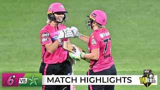 Healy guides Sixers to wet win over Stars in WBBL opener | WBBL|07