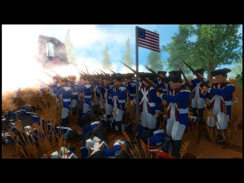 American Revolution Line Battle in a Swamp! - Rise of Liberty Battle Simulator