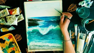 Art Lapse ® | Oil Painting Seascape With Waves | Speed Art