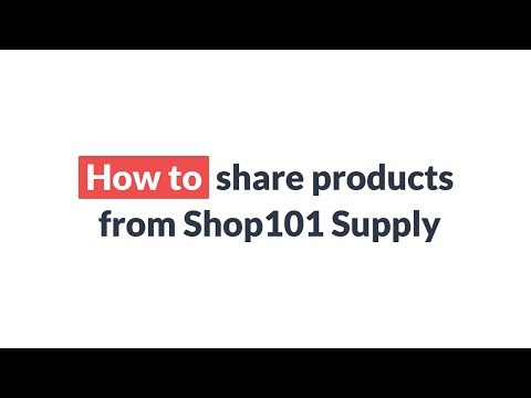 How To Share Products From Shop101 Supply | Share And Earn Money | Shop101 Mp3