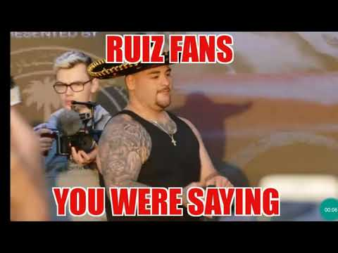 Andy Ruiz fans Reacting 😤 to His embarrassing Loss AND NEW💣💯💣💯