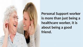 Personal Support Worker in Program