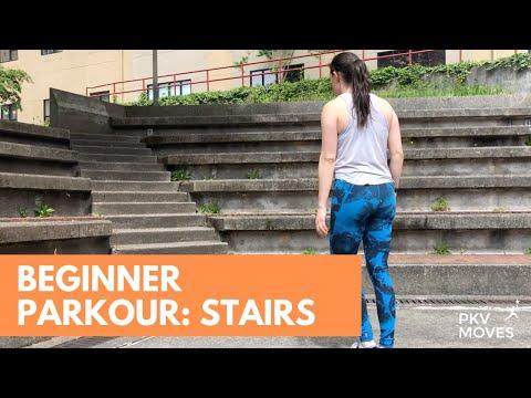 Beginner Parkour Training: Stairs | PKVmoves.org - YouTube
