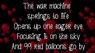 99 Red Balloons (Lyrics On Screen) Nena Lyrics