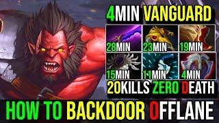 How to BackDoor With 4Min Vanguard [Axe] Incredible Berserker Call 20Kills SneyKing DotA 2 FullGame