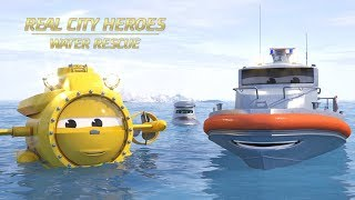 Flip the Rescue Boat & Ava the Submarine - Real City Heroes (RCH) | Videos For Children