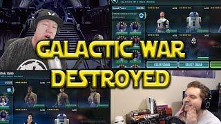 Star Wars: Galaxy Of Heroes - Resistance VS Kenobi Zarris Galactic War