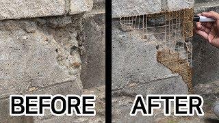 Repairing walls with a 3D pen