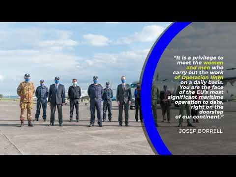 HR/VP Josep Borrell visits Operation IRINI