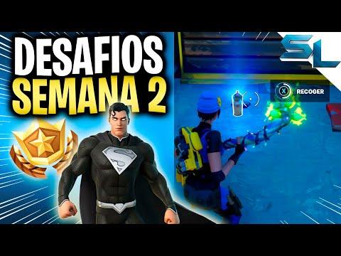 Como COMPLETAR TODOS los DESAFIOS DE LA SEMANA 2 FORTNITE TEMPORADA 7