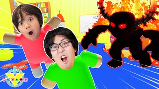 RYAN & DADDY SURVIVING EVIL DAYCARE! Let's Play Roblox Daycare Story