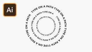 Text on a Path in Illustrator | 2 Minute Tutorial